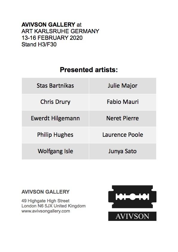 ART KARLSRUHE 2020 artist's list